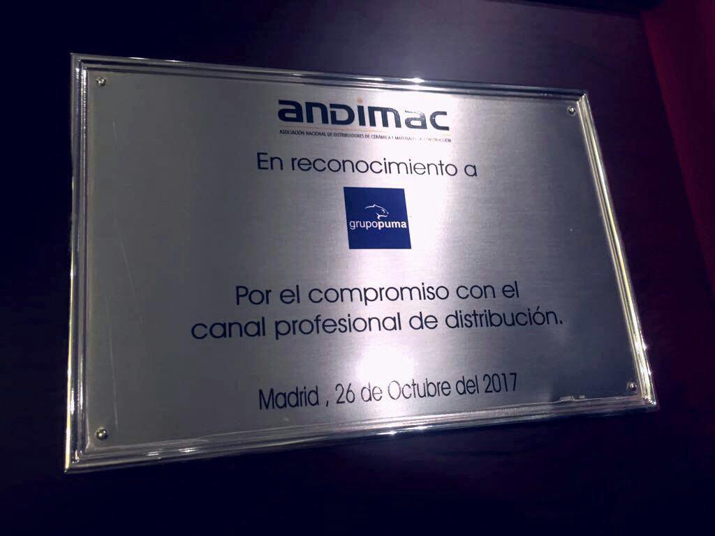 Reconocimiento de ANDIMAC a Grupo Puma