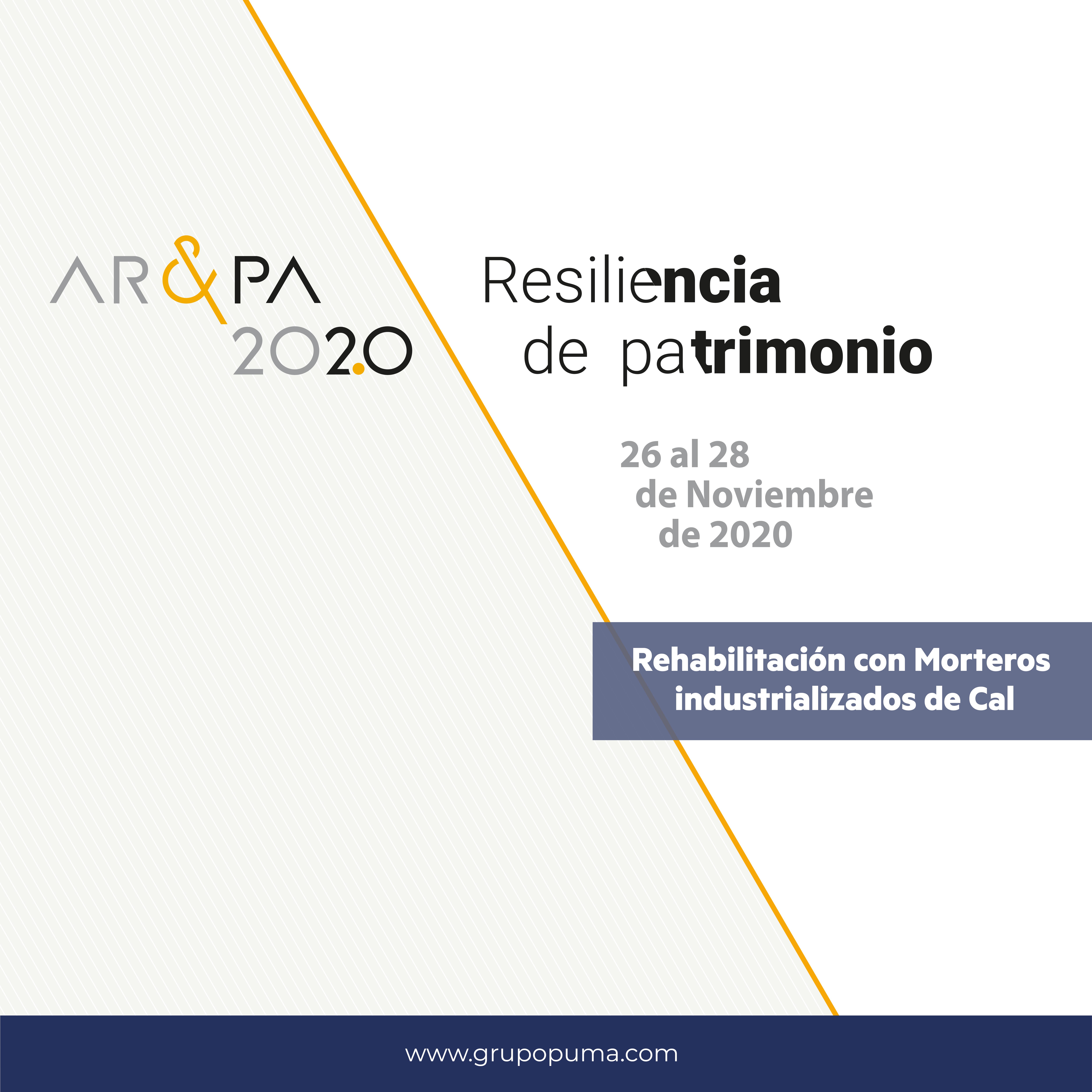 Grupo Puma participa como expositor en la feria dedicada al patrimonio AR&PA 2020.