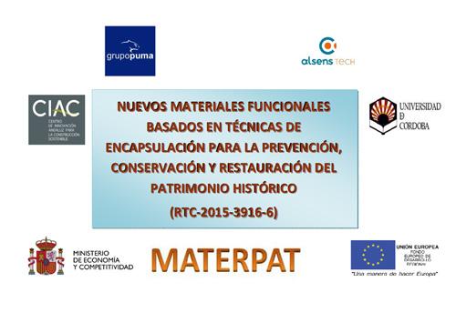 El proyecto MATERPAT concluye su segunda anualidad