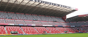 Structural reinforcement of the grandstand in EL MOLINON stadium (Gijón)