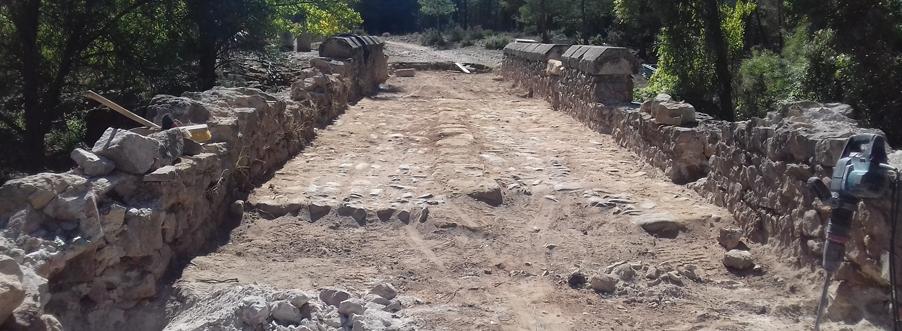 Restauración del PUENTE DE CRISTINAS, Pajaroncillo (Cuenca)